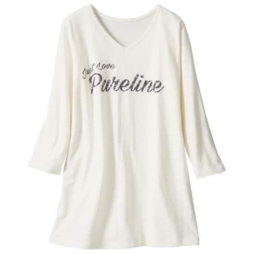 【レディース大きいサイズ】 7分袖VネックプリントTシャツ(綿100%・L-10L)の通販