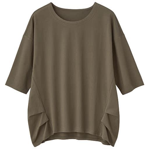 【レディース】 大人きれいなコットンタック入りTシャツの通販