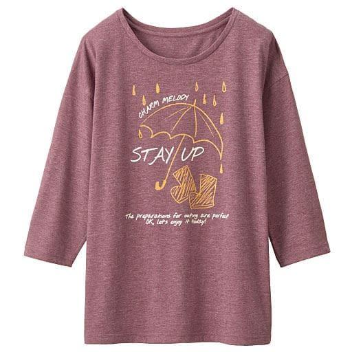 【SALE】 【レディース】 衿ぐりデザインが選べるプリントTシャツ(7分袖)の通販