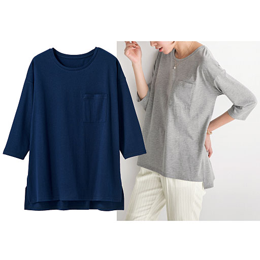【SALE】 【レディース】 ポケット付きゆったりTシャツの通販