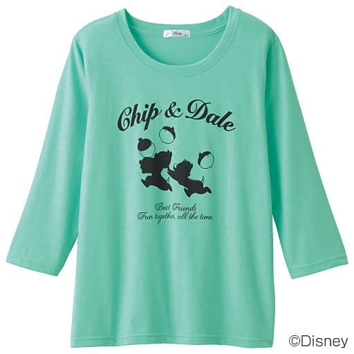 【SALE】 【レディース】 7分袖クルーネックTシャツ(ディズニー)の通販