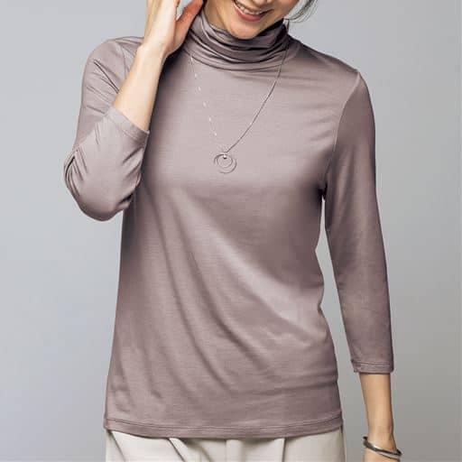 【レディース】 テンセルオフタートル7分袖Tシャツの通販
