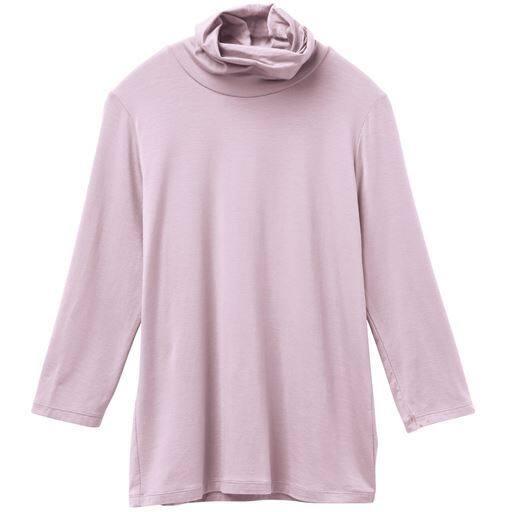 【レディース】 テンセルオフタートル7分袖Tシャツ(日本製)の通販
