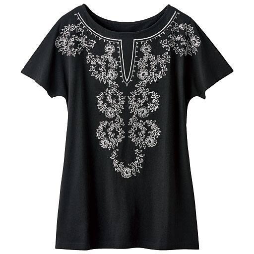 【SALE】 【レディース】 フレンチスリーブ刺繍Tシャツの通販
