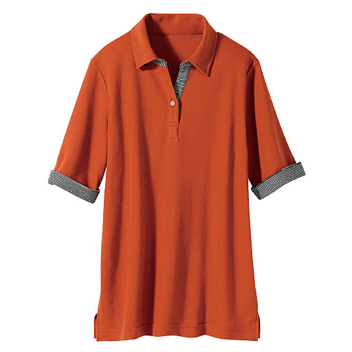 【レディース】 吸汗速乾 抗菌防臭・UVカットの多機能ポロシャツ(5分袖)の通販