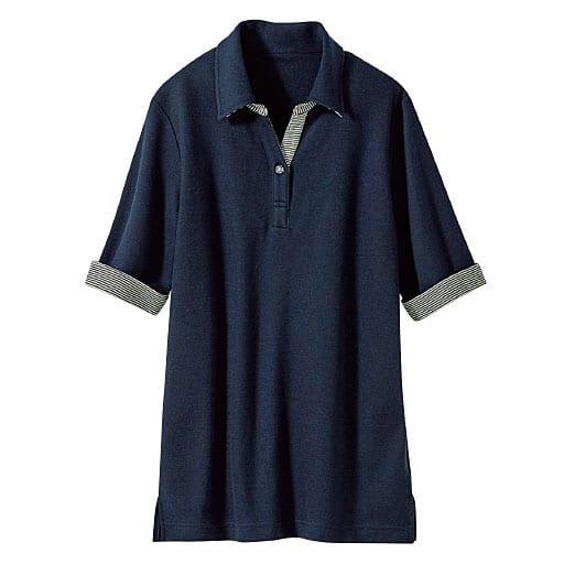 【レディース】 吸汗速乾 抗菌防臭・UVカットの多機能ポロシャツ(5分袖)