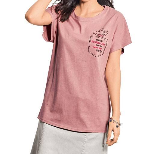 【レディース大きいサイズ】 半袖プリントTシャツ