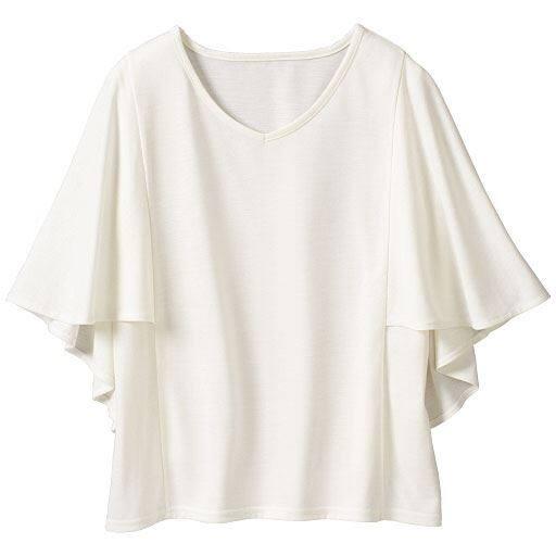 【SALE】 【レディース大きいサイズ】 袖フリルTシャツの通販