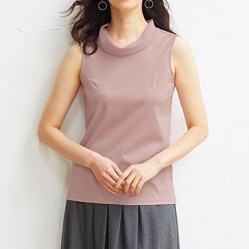 【レディース】 シフォン衿ノースリーブ(綿100%)