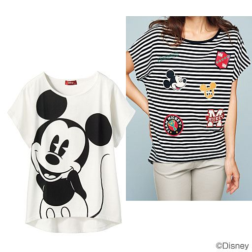 【レディース】 ゆるシルエットプリントTシャツ(ディズニー)の通販