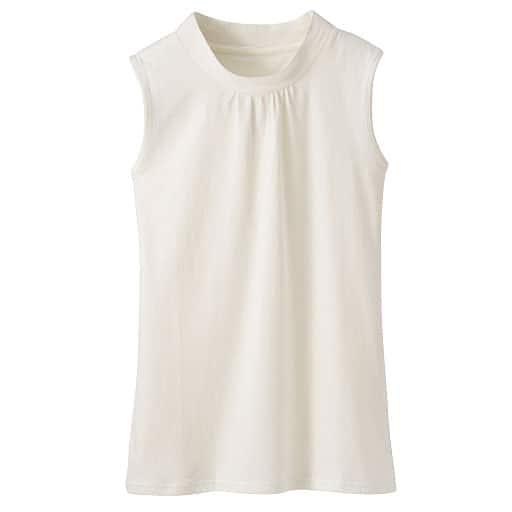 【レディース】 ハイネックノースリーブTシャツ - セシール