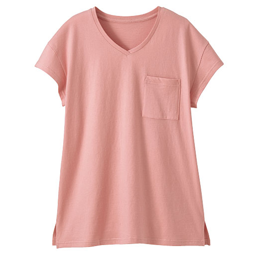 【SALE】 【レディース】 Vネックポケット付きTシャツの通販