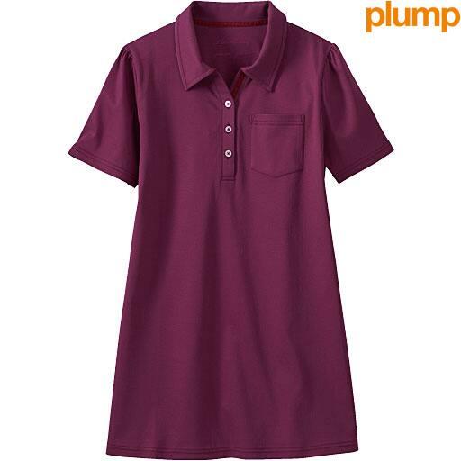 【SALE】 【レディース大きいサイズ】 UVカットロングポロシャツ - セシール