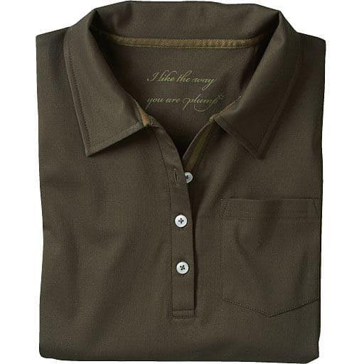 【SALE】 【レディース大きいサイズ】 UVカットロングポロシャツ