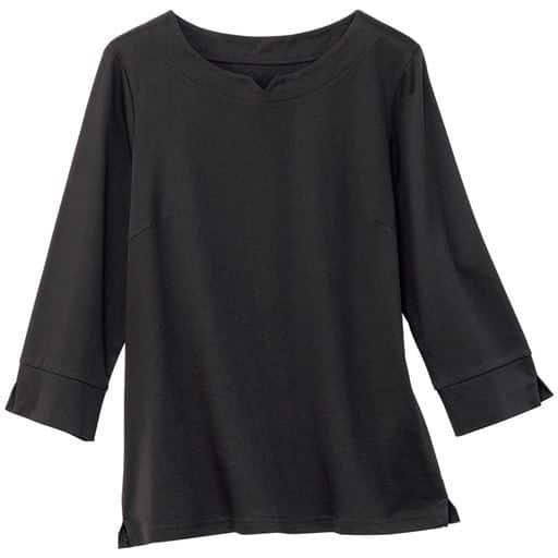 【レディース】 キーネック7分袖Tシャツの通販