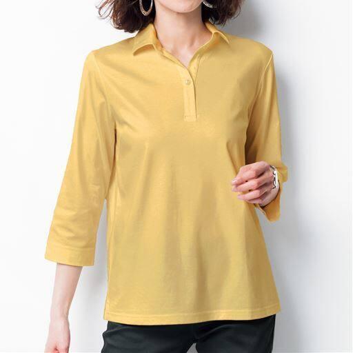 【SALE】 【レディース】 衿付き7分袖Tシャツの通販