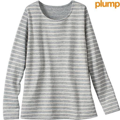 【SALE】 【レディース大きいサイズ】 接結天竺ボーダーTシャツの通販