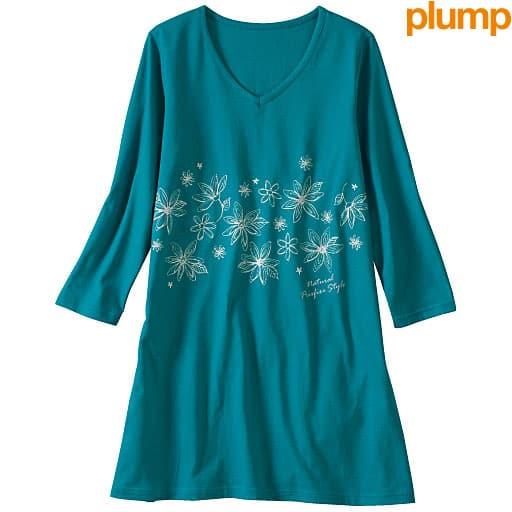 【SALE】 【レディース大きいサイズ】 プリントチュニックTシャツの通販