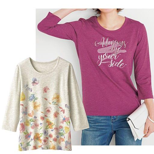 【レディース】 プリントTシャツ(7分袖)の通販