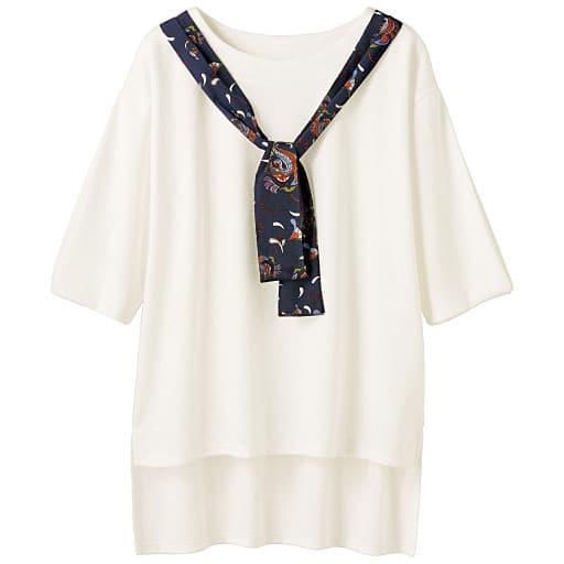【SALE】 【レディース】 スカーフ付きプルオーバーの通販