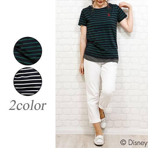 【レディース】 重ね着風切り替えTシャツの通販