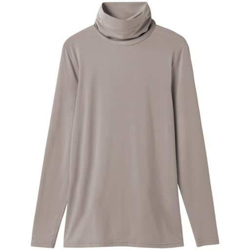 【レディース】 スマートヒートルーズネックTシャツ(S-5L・静電気防止・吸湿発熱・吸汗速乾・選べる2丈) - セシール