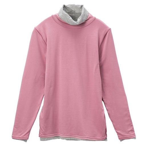 【レディース】 スマートヒート2枚仕立てルーズネックTシャツの通販