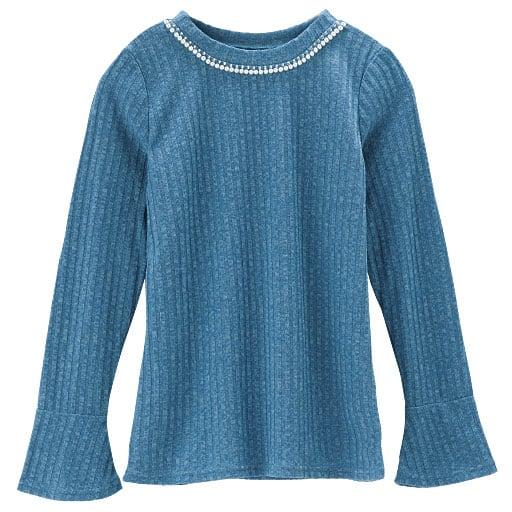 【SALE】 【レディース】 襟ぐりビジュー使いクルーネックTシャツの通販