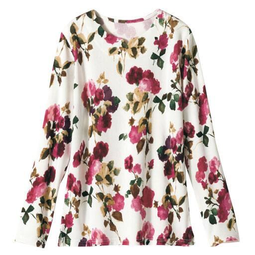 【レディース】 キーネックプリントTシャツの通販