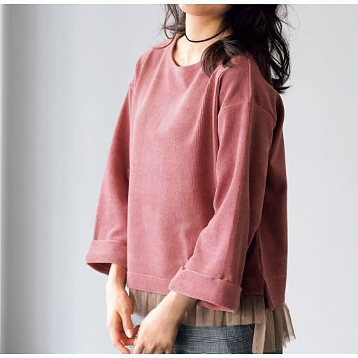 【SALE】 【レディース】 裾チュールカットコールプルオーバーの通販