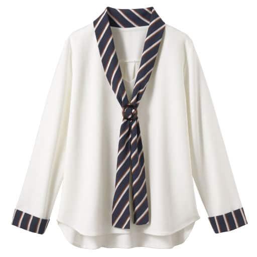 【SALE】 【レディース】 スカーフ巻き風プルオーバー(バックル付き)の通販