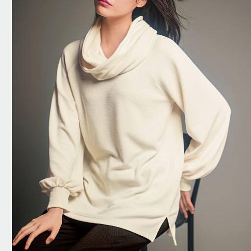 【SALE】 【レディース大きいサイズ】 ボリューム袖プルオーバー(スヌード付き)の通販