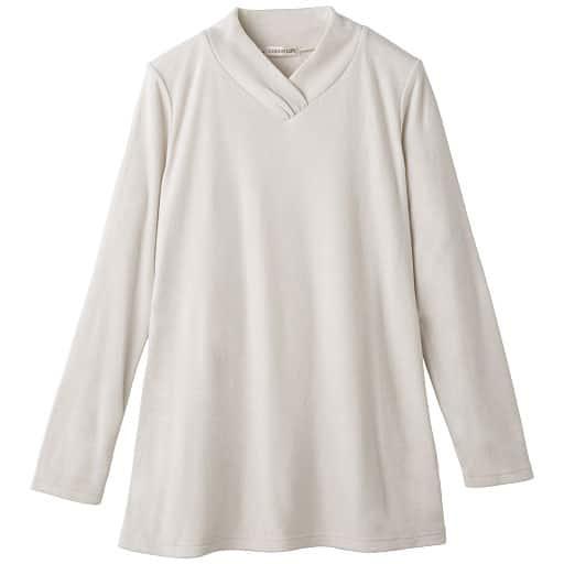 【SALE】 【レディース】 シルクコラーゲン加工 重ね衿ロングプルオーバー(日本製・洗濯機OK)の通販