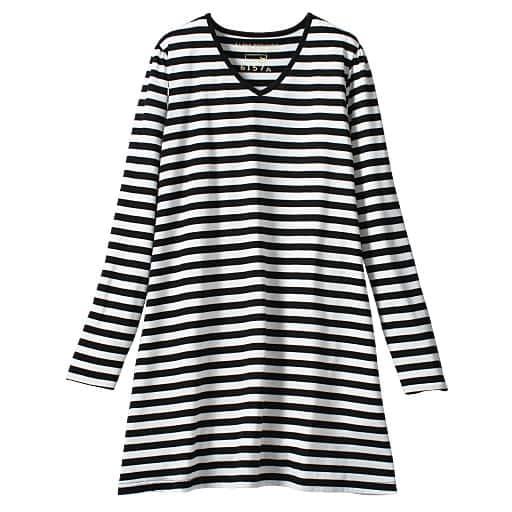 【レディース大きいサイズ】 VネックTシャツ