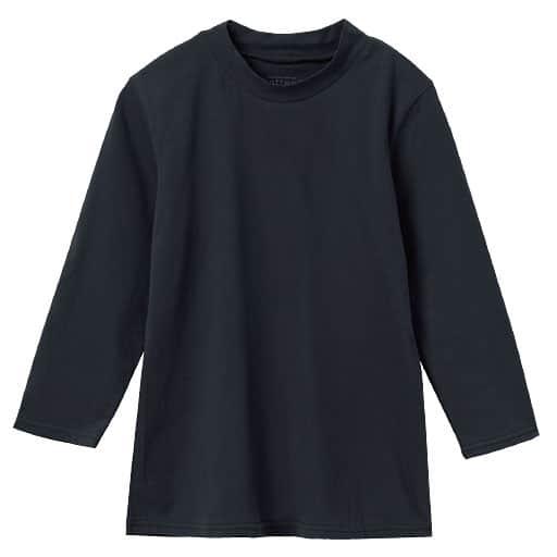 【レディース】 ハイネック7分袖プルオーバー(綿100%)
