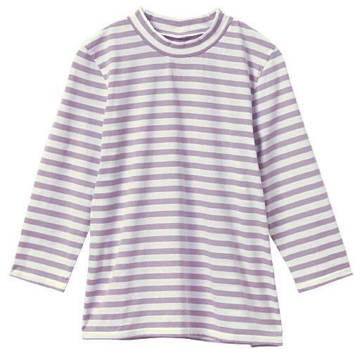 【レディース】 ハイネック7分袖プルオーバー(綿100%)の通販
