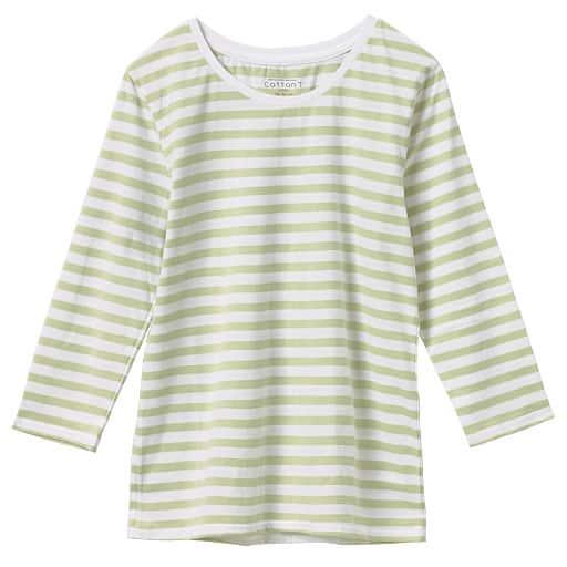 【レディース】 7分袖クルーネックプルオーバー(綿100%)の通販