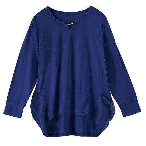 【レディース】 アクセサリー付きプルオーバー(7分袖)(日本製・保湿)の通販
