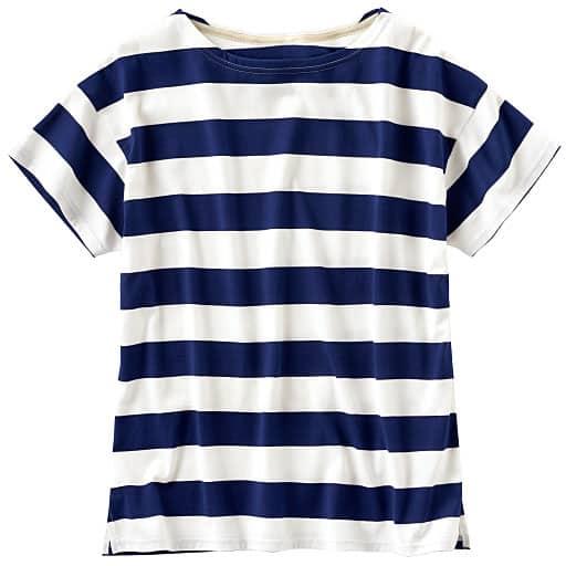 【レディース】 ボートネックボーダーTシャツ(S-5L)の通販