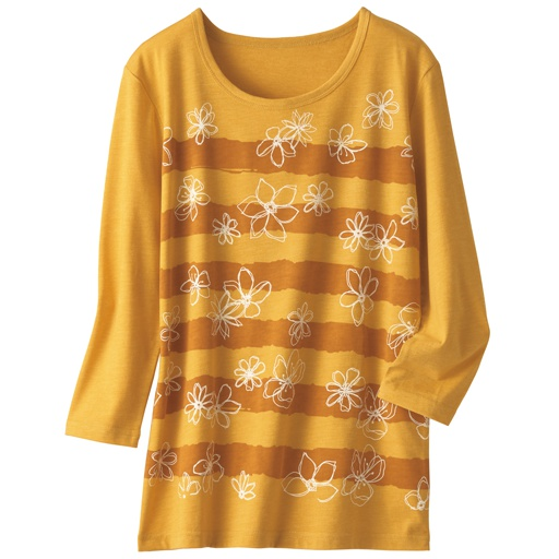 【レディース】 プリント7分袖Tシャツ(S-5L)の通販