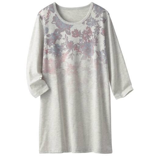 【レディース】 プリント7分袖ロングTシャツ(S-5L)の通販