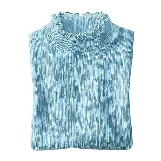 【レディース】 テンセル繊維混メロウネックプルオーバーの通販