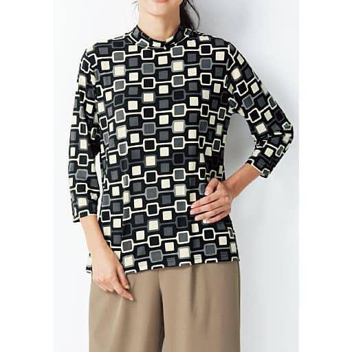 【レディース】 ハイネックプリントTシャツの通販
