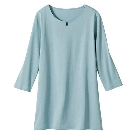 【レディース】 オーガニックコットン UVカット 7分袖ロングTシャツ(日本製・綿100%)の通販