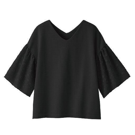 【レディース】 袖布帛使いプルオーバーの通販