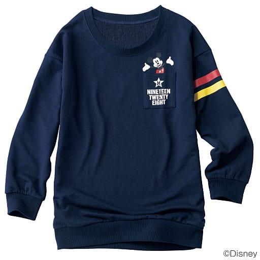 【SALE】 【レディース】 胸ポケット付き裏起毛トレーナー(ミッキーマウス)の通販