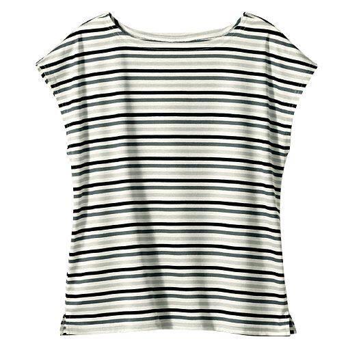 【レディース】 ボーダーTシャツ(綿100%・日本製)の通販