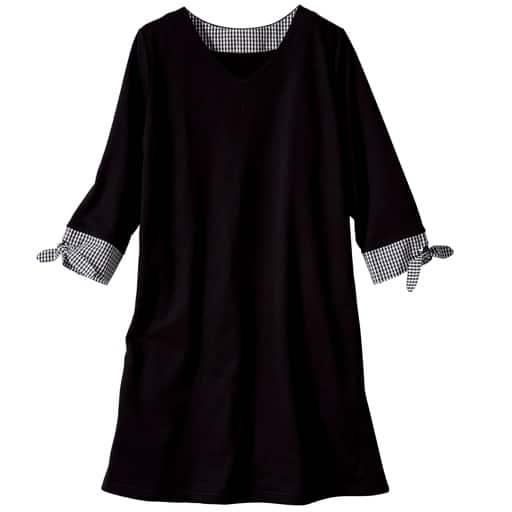【レディース大きいサイズ】 袖リボン裏毛チュニック(L-10L)の通販