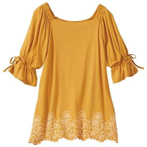【レディース大きいサイズ】 裾スカラップ刺繍プルオーバー(L-10L)の通販