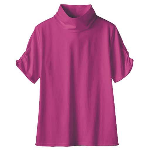 40%OFF【レディース】 ハイネックTシャツ(半袖)(綿100%・S-5L) - セシール